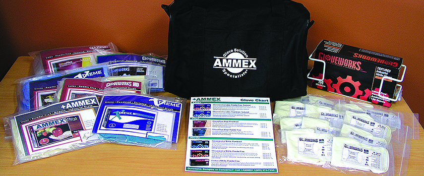 Samples can enhance the prospects of selling more disposable gloves.